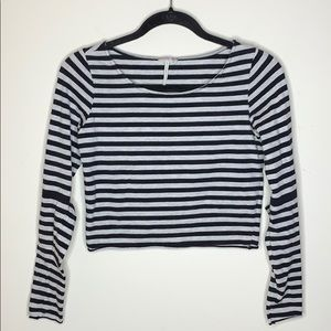 Free People Cropped Striped Tee